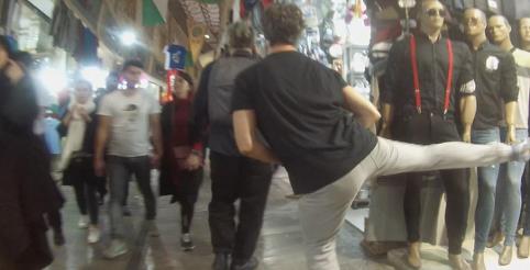 Dancewalk - Clandestine Tehrun (2018) - Dancing like I am not dancing in a bazar, Tehran, Iran