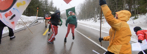 Dancewalk - Matripoine - (2019) - In the snow between La Chaux-de-Fonds and Neuchâtel, Switzerland