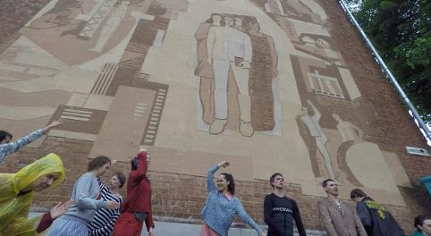 Кострома.Dancewalk (2017) - Mocking propaganda in Kostroma, Russia